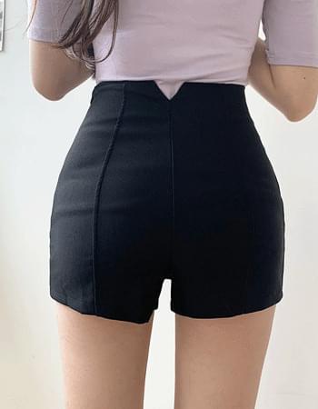 High waist Spandex Split short pants