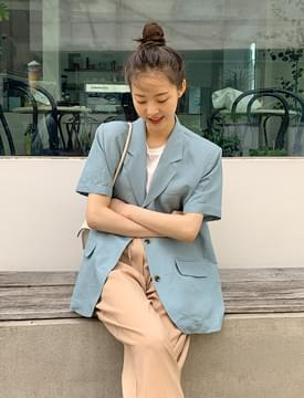Marina linen short-sleeved jacket