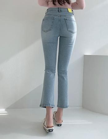 韓國空運 - Dia banhayi Light Blue Faded Flared denim pants 牛仔褲