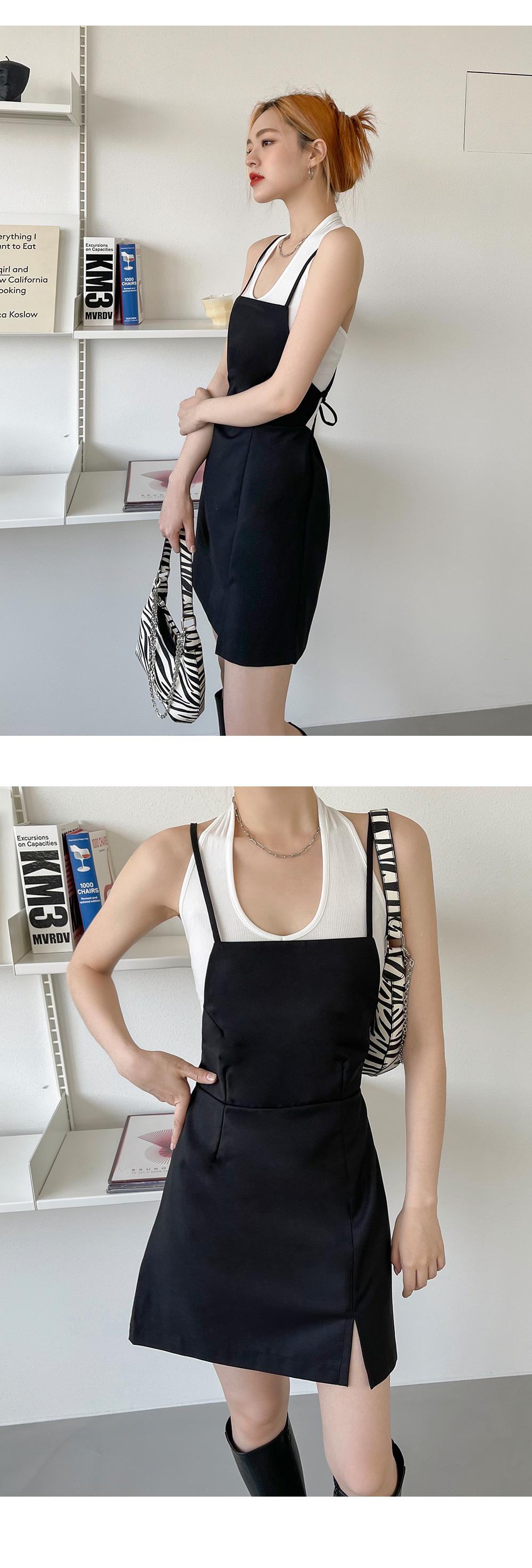 Cica Split Sleeveless Mini Dress
