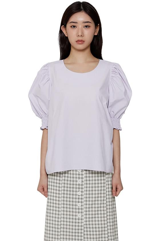 Lavender puff sleeve blouse
