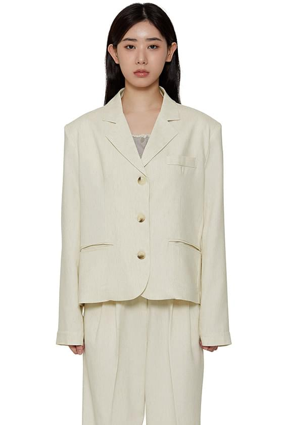 Cooling linen blazer