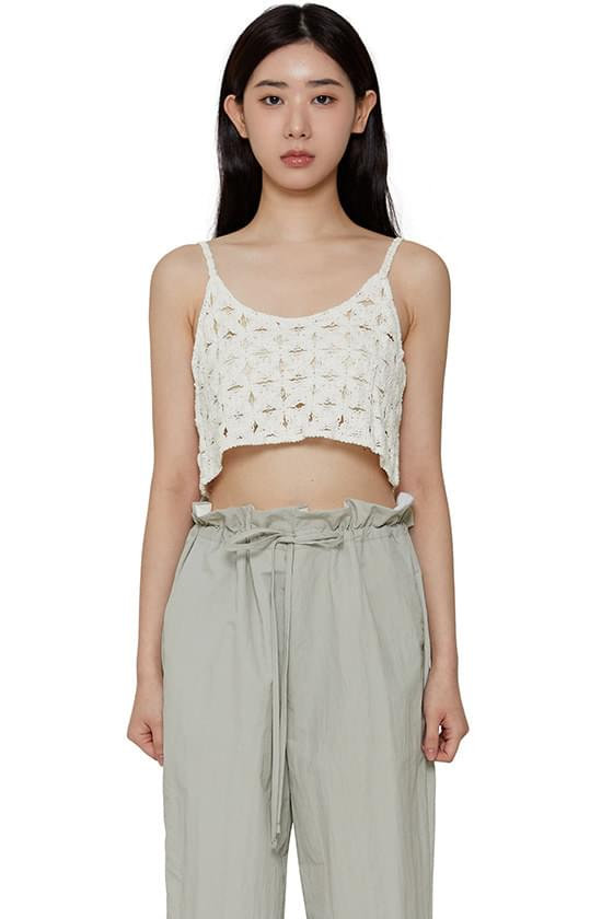 Summer Knitwear cropped camisole