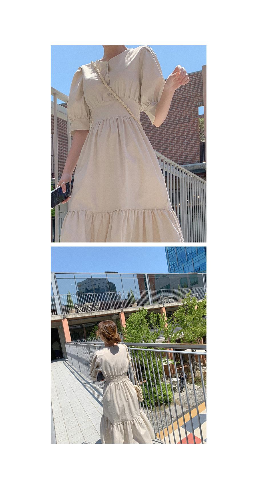 Summer Happiness Linen Long Dress