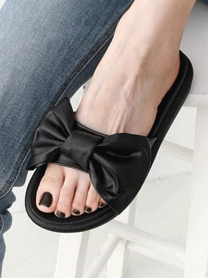 King Ribbon Point Full Heel Slippers 10960