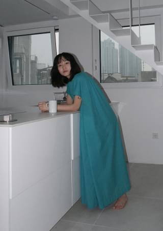 tunic cotton maxi dress (2colors)