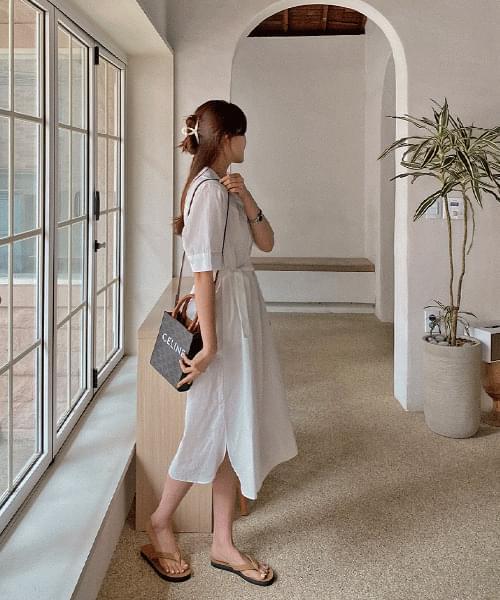 보르 여름 셔츠 원피스 - 3color