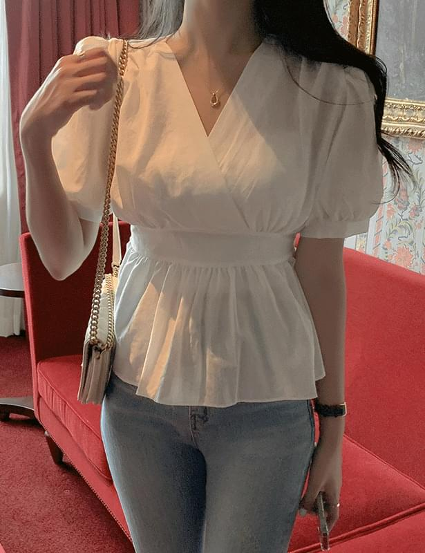Serion wrap ribbon blouse