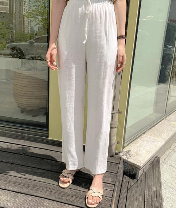 Natural banding wide pants *cumulative*
