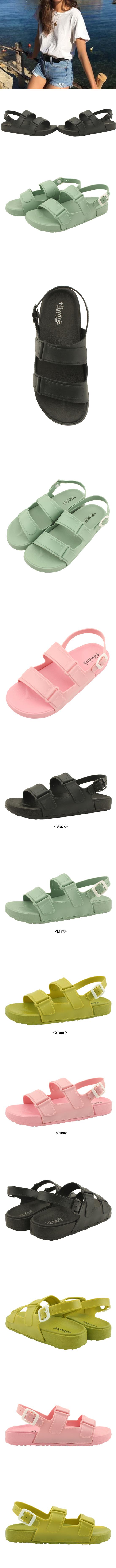 Fluffy Jelly Flat Sandals Black