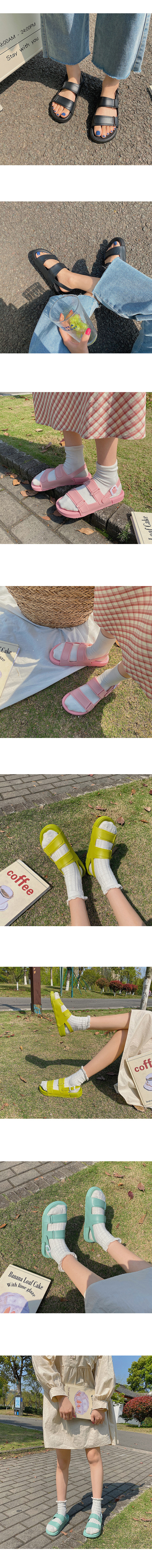 Fluffy Jelly Flat Sandals Mint
