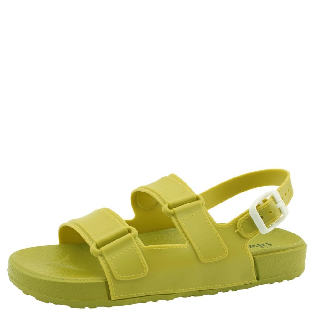 Fluffy Jelly Flat Sandals Green 涼鞋