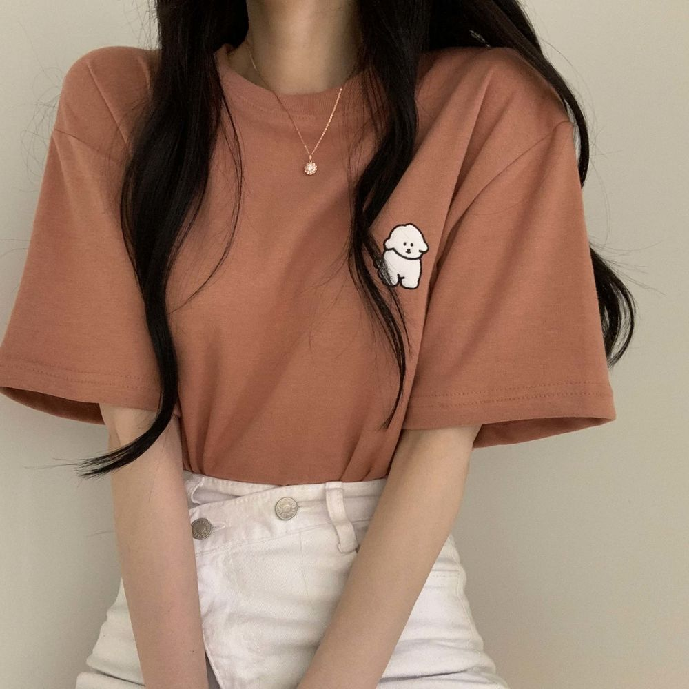 Dog patch short sleeve T