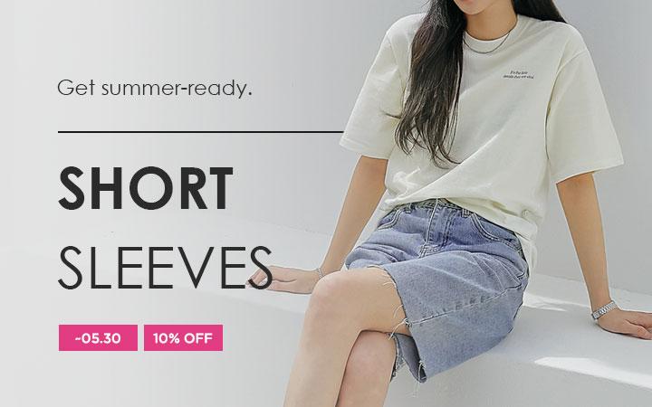 Get summer-ready - Short Sleeves