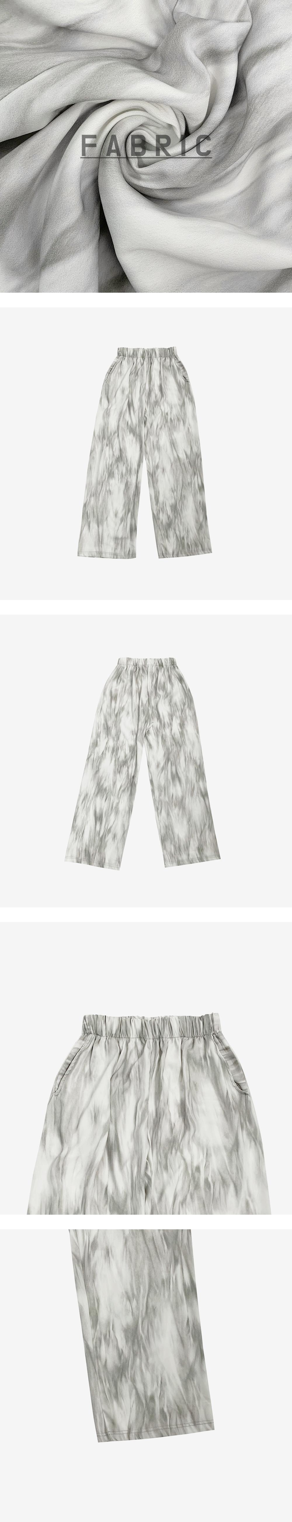 Shea banding wide trousers