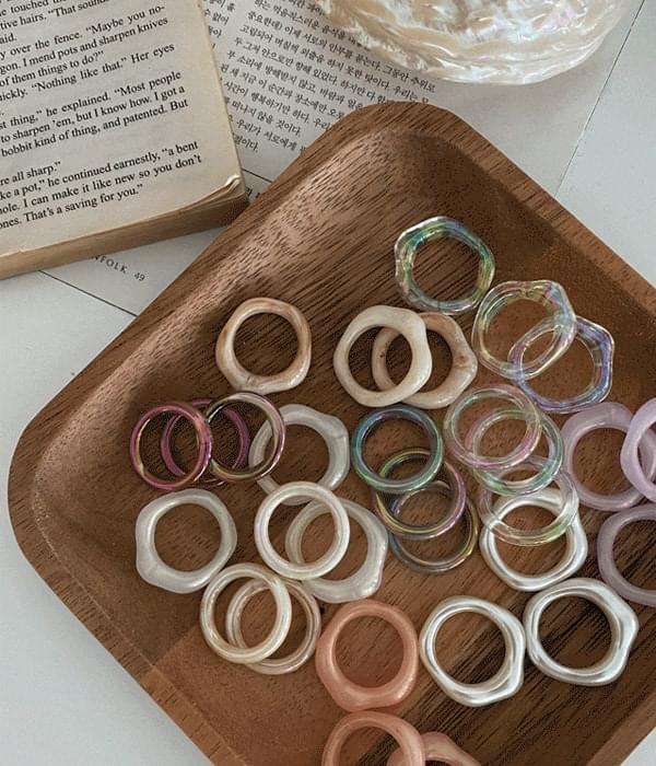 Vintage Homaica Marble Ring Collection