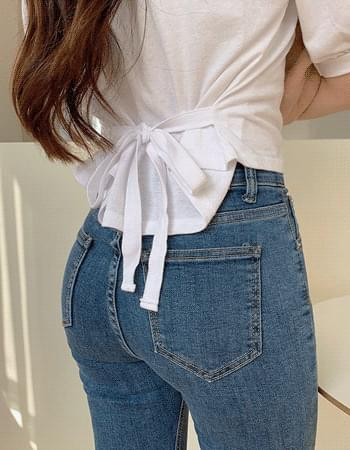 Eve puff bow-string T-shirt