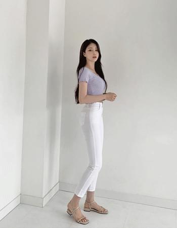 Ready Van Hai Summer Soak Banding Slim Cotton Trousers