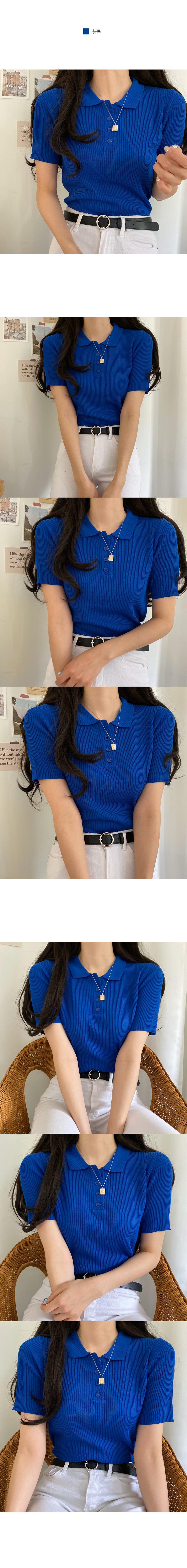 Delby Cara Ribbed Short Sleeve Knitwear