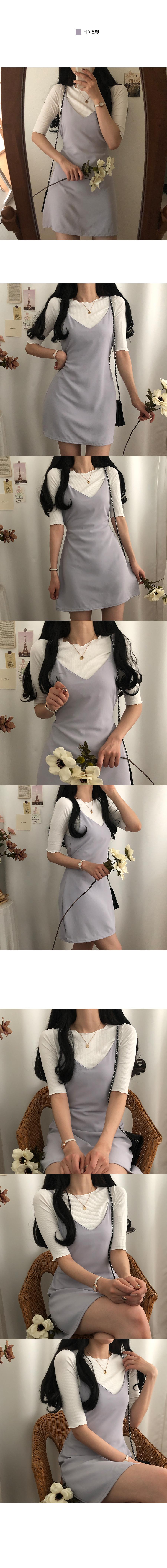 Juice cooling texture bustier mini Dress