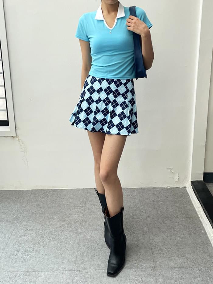 Argyle Skirt