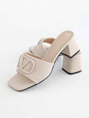 Silver Sensitive Mule Slippers 6cm