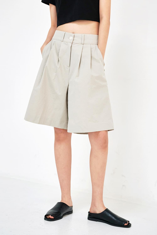 Wide cotton pintuck Pants