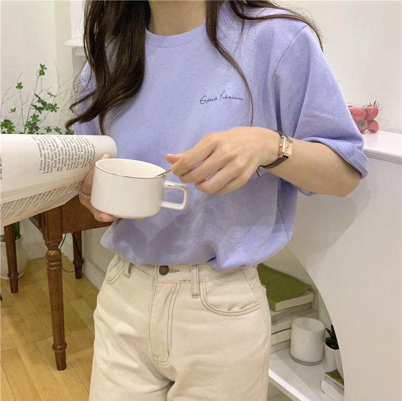 반팔 티셔츠 모델 착용 이미지-S1L25