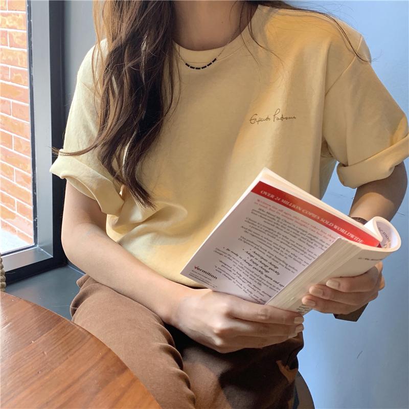 반팔 티셔츠 모델 착용 이미지-S1L34