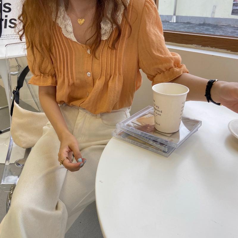 블라우스 모델 착용 이미지-S1L18