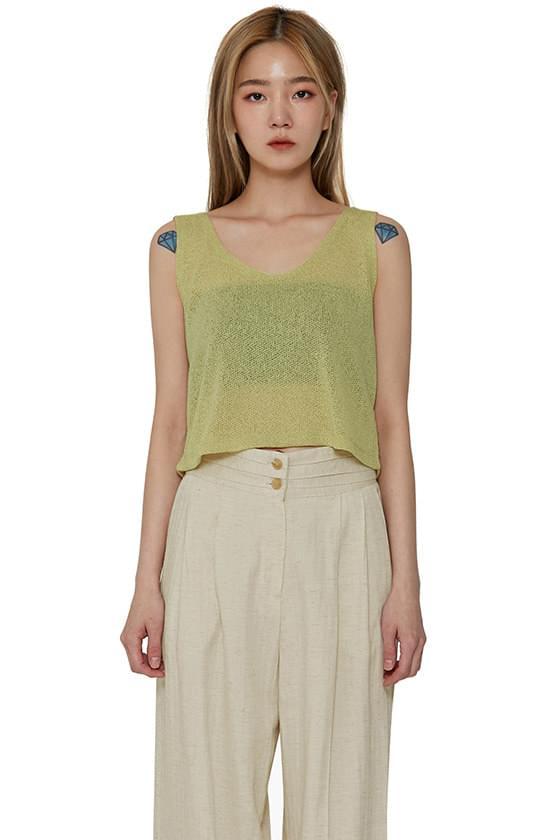 Bali Sleeveless Knitwear Top