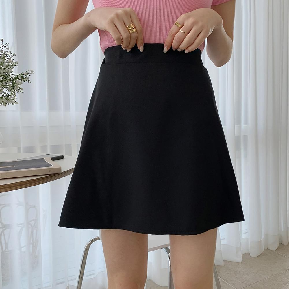 Basic flared mini skirt