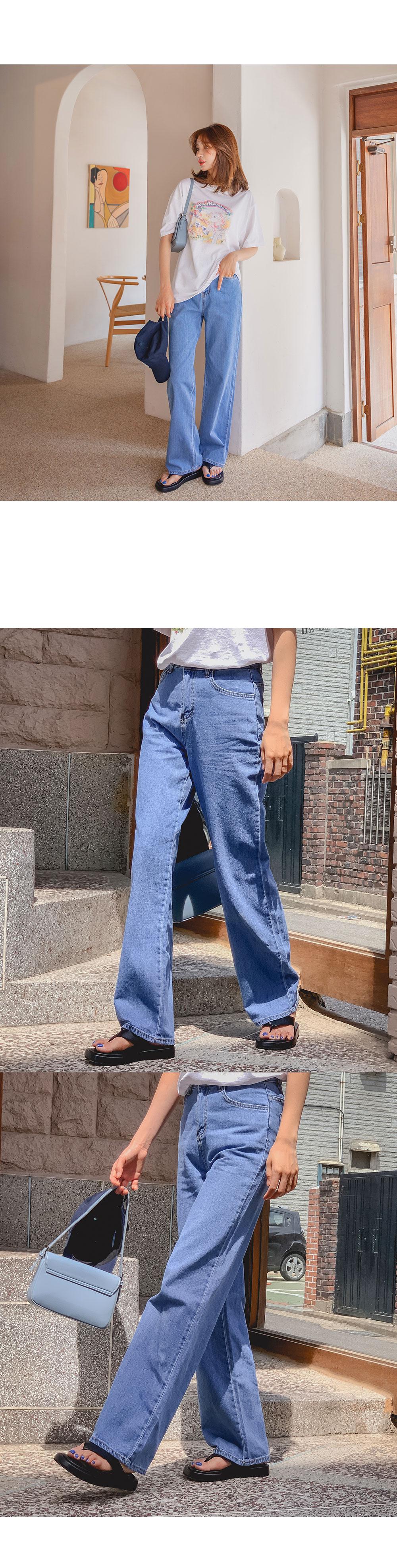 Hedges wide denim pants