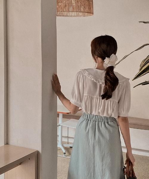 ABS linen blouse-3color