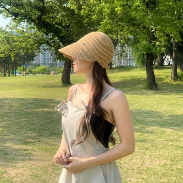 May Rattan Bonnet Cap Hat