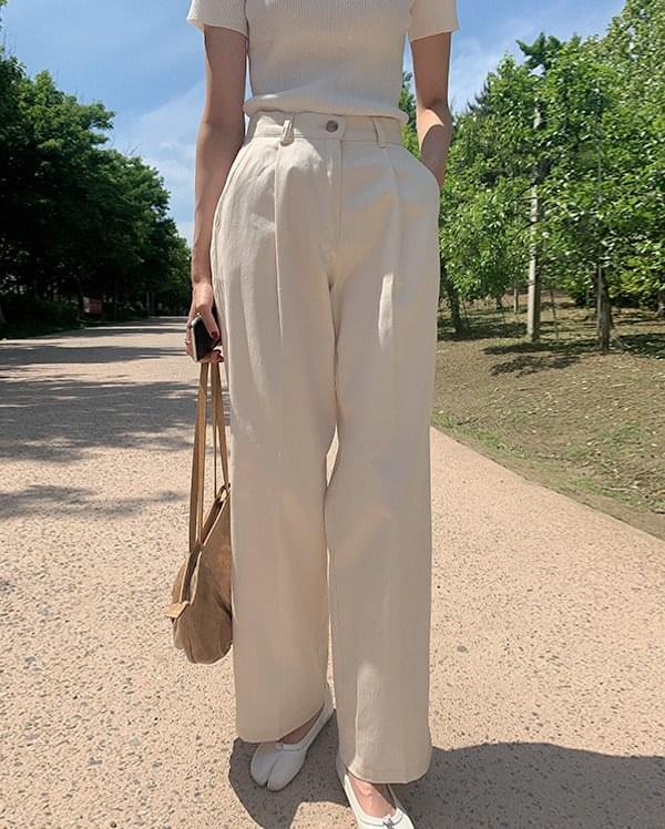 Foret pintuck cotton trousers