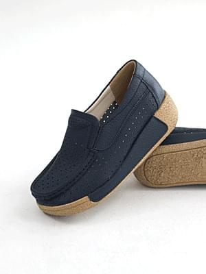 Happiness leather height loafers 6cm