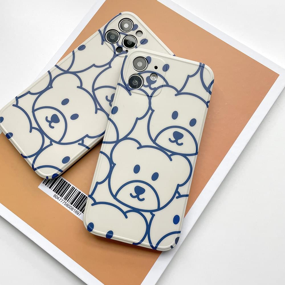Purmi Bear Bear Pattern iPhone Case (Delayed delivery)