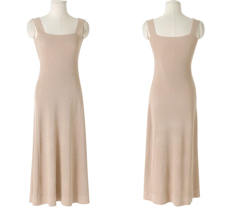 Stella Ribbed slim long Dress