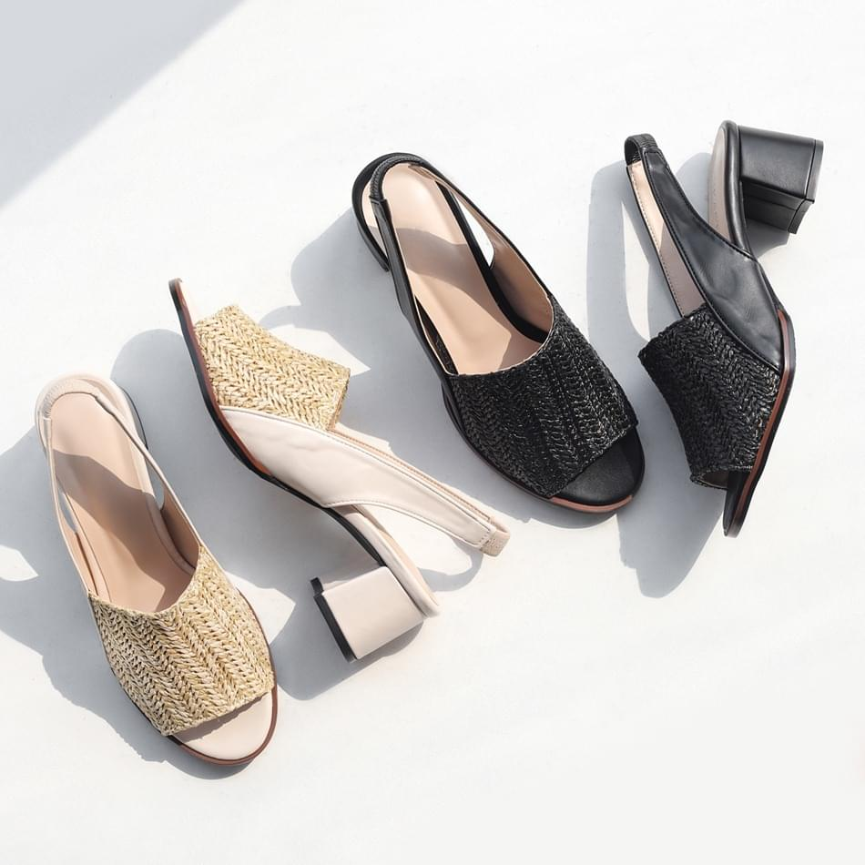 Summer Temp Rattan Slingback Sandals 5cm