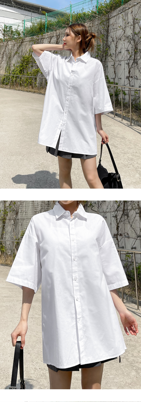 Montiva Linen Overfit Short Sleeve Shirt