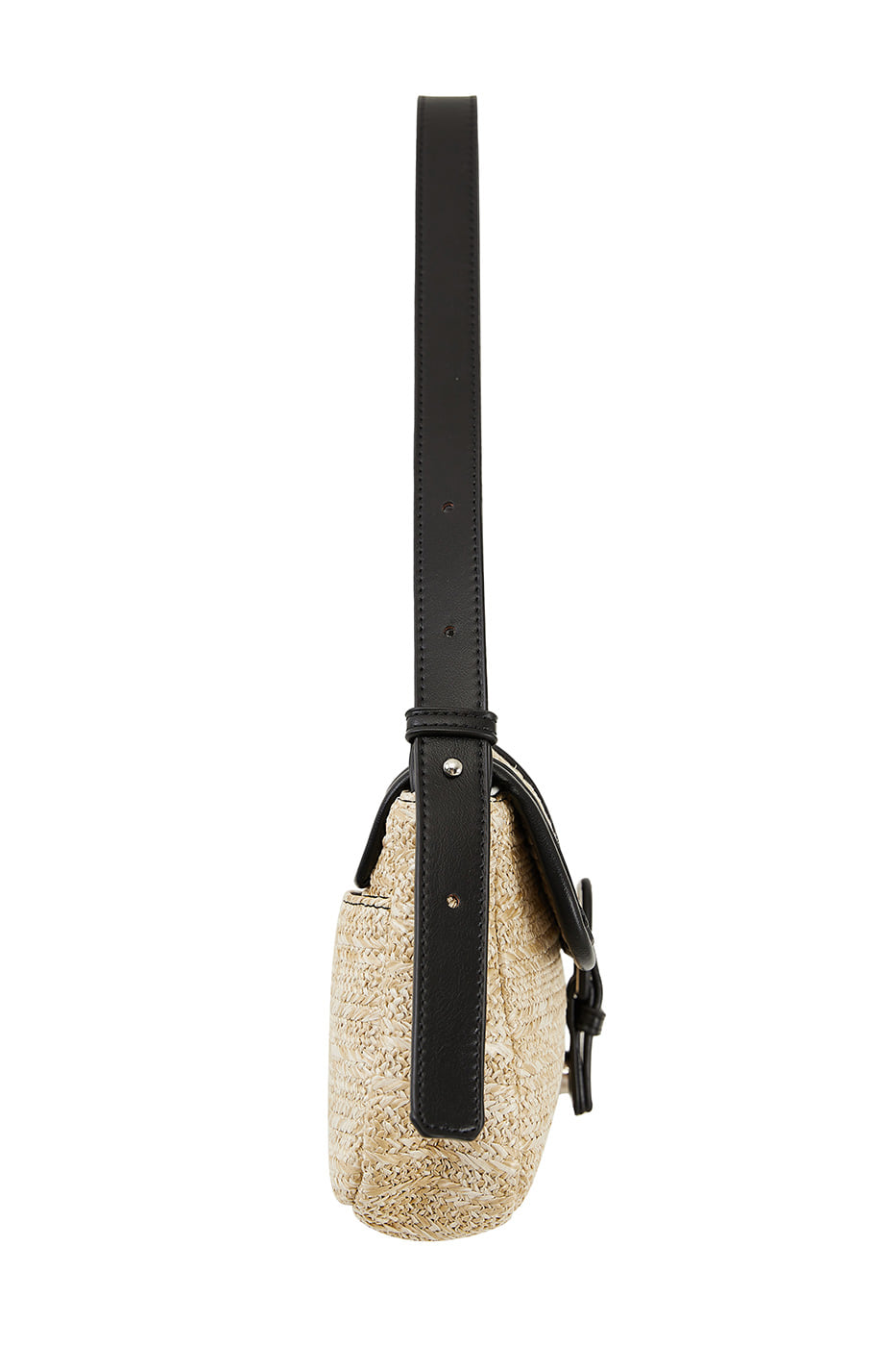 Door rattan buckle shoulder bag