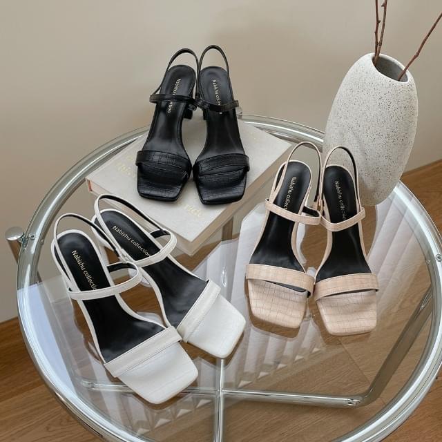 CLEO Open Toe Sandal Heel 7cm