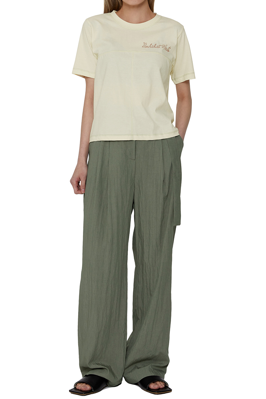 Summer tie strap trousers