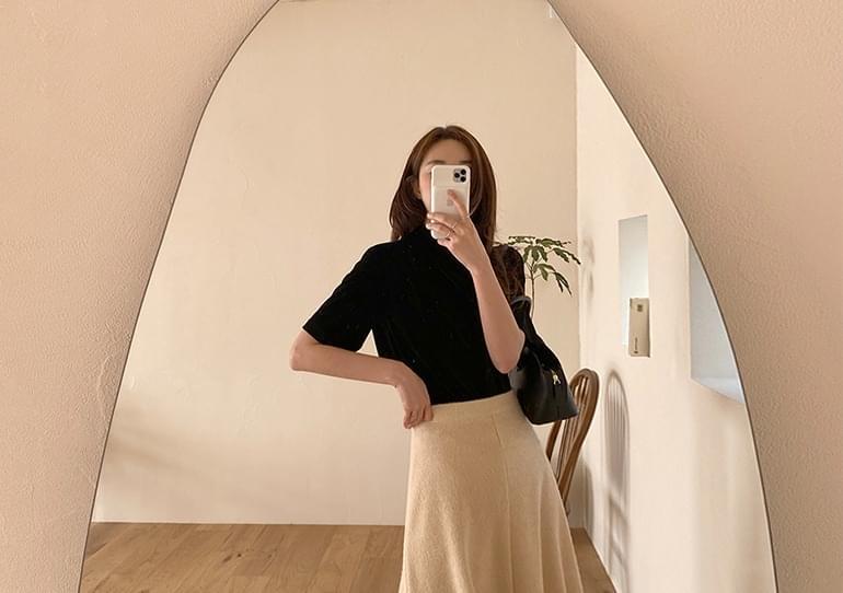 sale) Eiffel velvet blouse