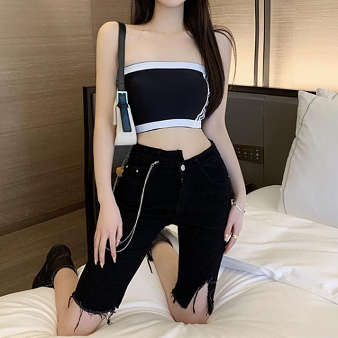 Sports cap bra line tube top