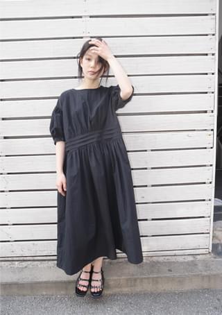 pintuck volume dress