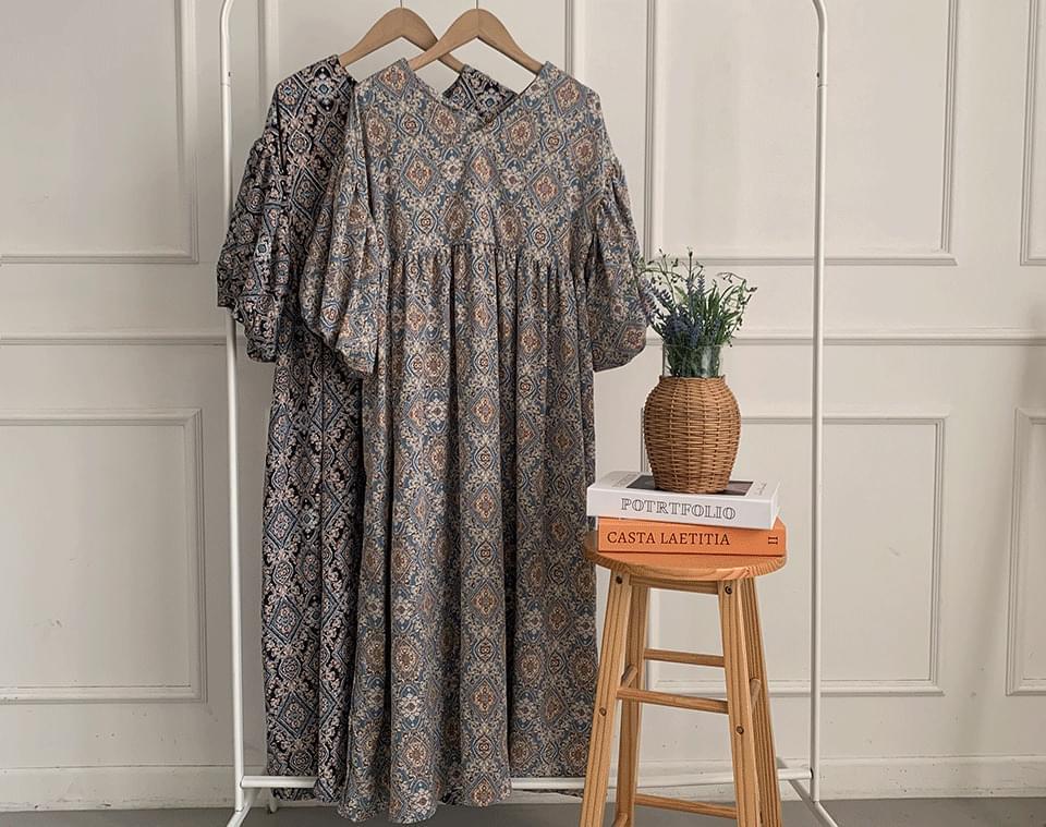 Pelliring V-Neck Ethnic Dress