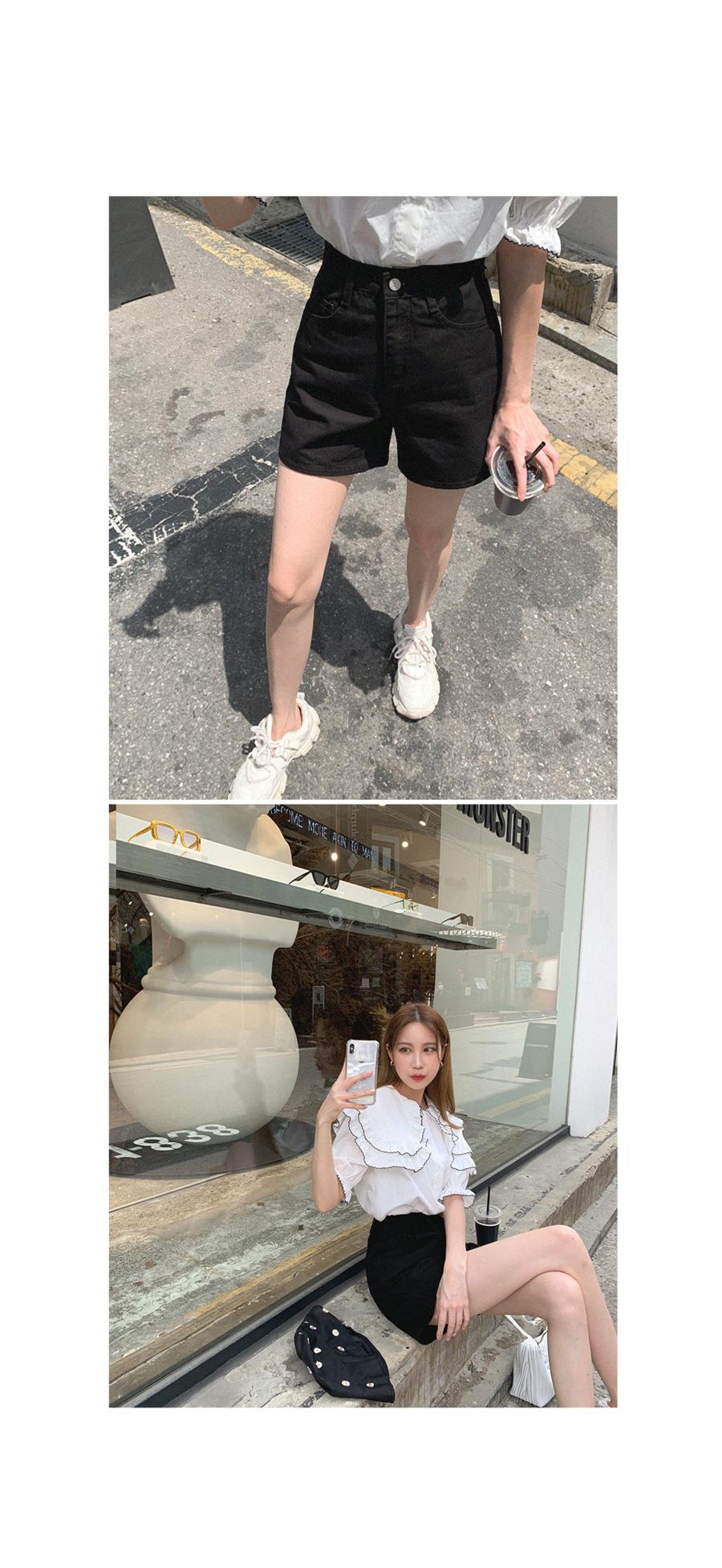 Refreshing taste black shorts