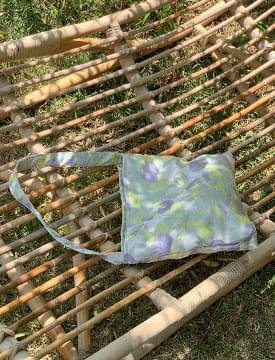 Lavender jacquard mini tote bag